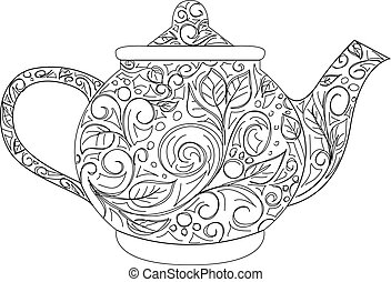 teapot - vector illustration of teapot