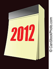 Vector illustration of tear-off calendar