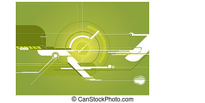Techno Background - Vector illustration of Techno Background