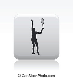 Vector illustration of tennis icon