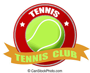 tennis label - Vector illustration of tennis label