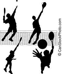 tennis serve - vector illustration of tennis serve