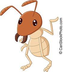 Termite cartoon waving