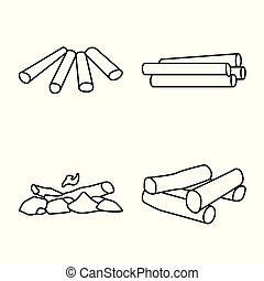 Vector illustration of texture and construction icon. Collection of texture and hardwood stock vector illustration.