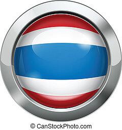 Thailand flag metal button