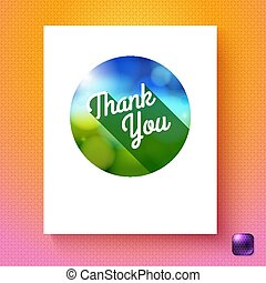 Vector illustration of Thank you badge template card