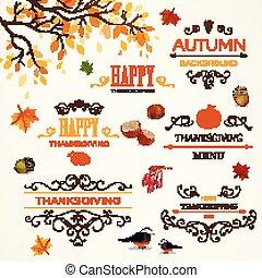 Thanksgiving Design Elements