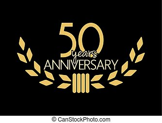 50 years anniversary - Vector illustration of the 50 years...