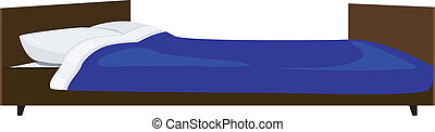Vector illustration of the bed