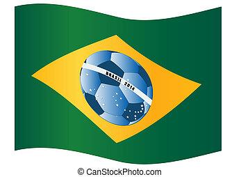 Vector illustration of the Brazil f
