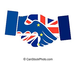 Vector illustration of the Brexit concept with the flags of Britain and European Union