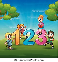 The children are learn number