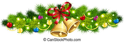 Christmas fir garland - Vector illustration of the Christmas...