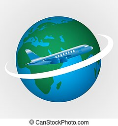 Vector illustration of the concept of travel