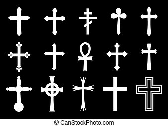 Vector illustration of the cross