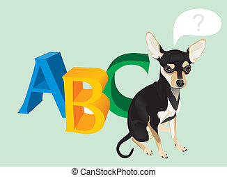 cute dog and capital letters
