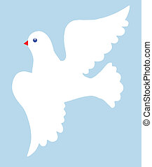 vector illustration of the dove