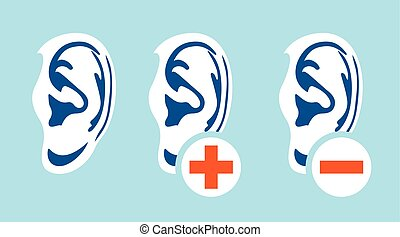 Vector illustration of the ear