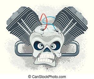 Vector illustration of the emblem for bikers