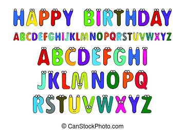 Vector Illustration of the English alphabet