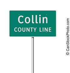 Collin County road sign
