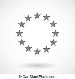 Vector illustration of  the EU flag stars