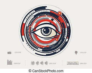 vector illustration of the eye icon