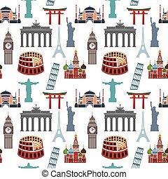 Famous landmarks pattern