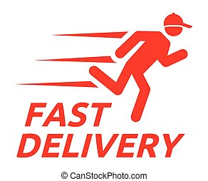 Fast delivery - Vector illustration of the Fast delivery