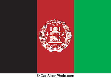 Vector illustration of the flag of Afghanistan