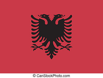 Vector illustration of the flag of Albania