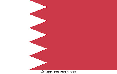 Vector illustration of the flag of Bahrain