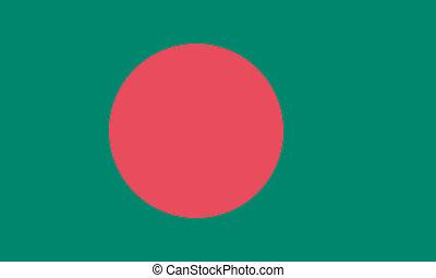 Vector illustration of the flag of Bangladesh