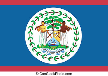 Vector illustration of the flag of  Belize