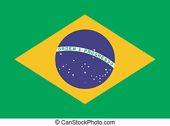 Vector illustration of the flag of Brazil