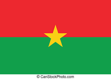 Vector illustration of the flag of Burkina Faso