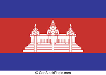 Vector illustration of the flag of Cambodia