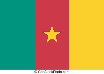 Vector illustration of the flag of Cameroon
