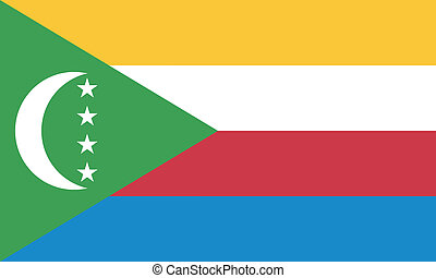 Vector illustration of the flag of Comoros