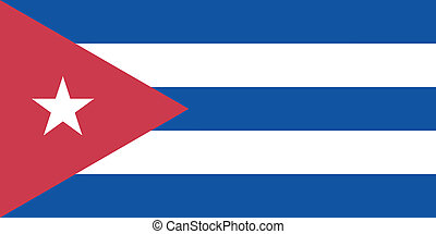 Vector illustration of the flag of  Cuba