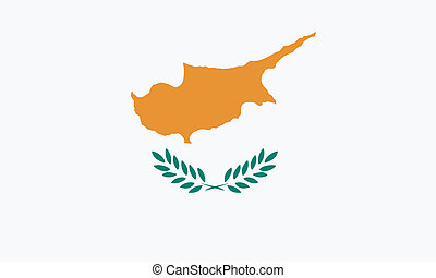 Vector illustration of the flag of Cyprus