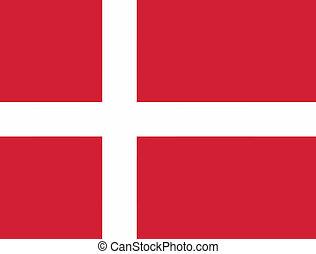 Vector illustration of the flag of  Denmark