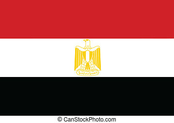 Vector illustration of the flag of Egypt