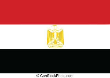 Vector illustration of the flag of  Egypt