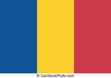 Vector illustration of the flag of  Romania