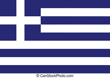 Vector illustration of the flag of Greece
