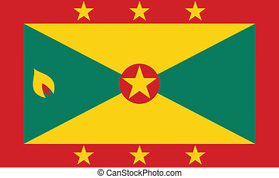 Vector illustration of the flag of Grenada