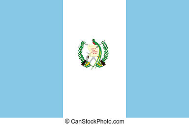 Vector illustration of the flag of Guatemala