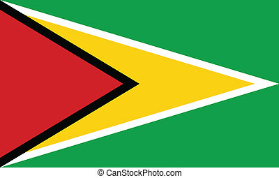 Vector illustration of the flag of Guyana