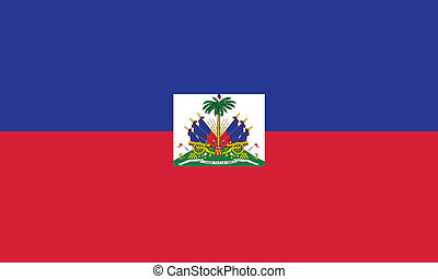 Vector illustration of the flag of Haiti